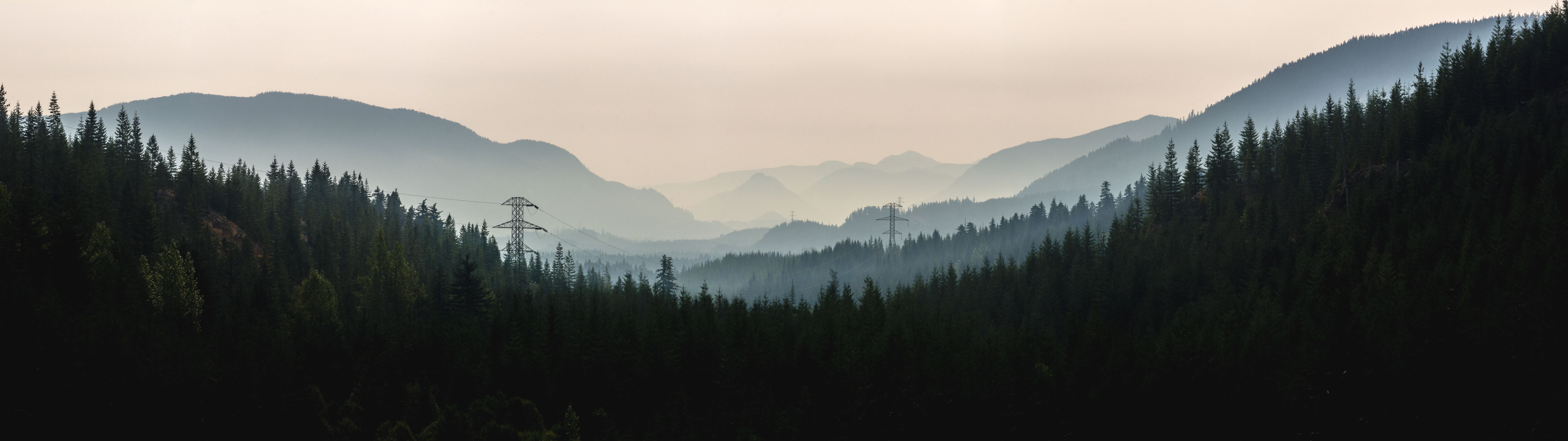 Smoke-filled Snoqualmie Valley
