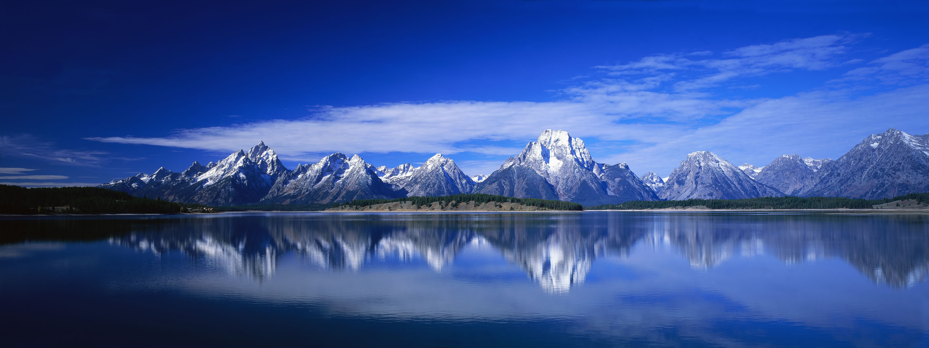 Snowy Mountains Reflections