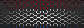 Netherlands flag with hexagons