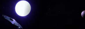 Elite Dangerous Blue Sun 3840 x 1080