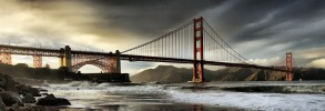 Golden Gate Bridge panorama, San Francisco, California, U.S.