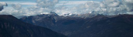 Mountain Wallpaper Oil Paint