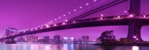 Purple Brooklyn Bridge