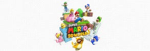 Super mario 3d world clean white background
